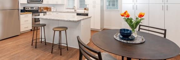 Well Equipped Kitchen And Dining at Parc View Apartments & Townhomes, Midvale, UT, 84047