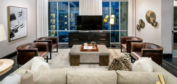 Decorated Living Room at Parc WestApartments, Draper, Utah