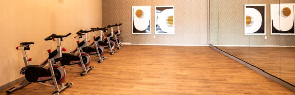 Cycle in Fitness center at Soleil Lofts Apartments, Herriman, Utah
