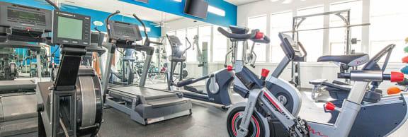 Modern Fitness Center at San Tropez Apartments & Townhomes, South Jordan, 84095