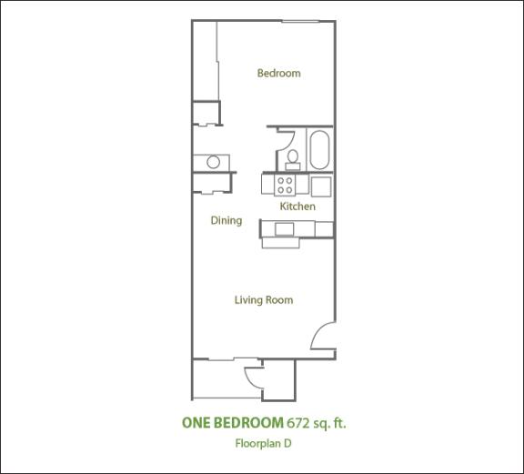 Floor Plan  One Bedroom Small