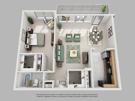 Floor Plan  1 Bed, 1 Bath 847 SF 11