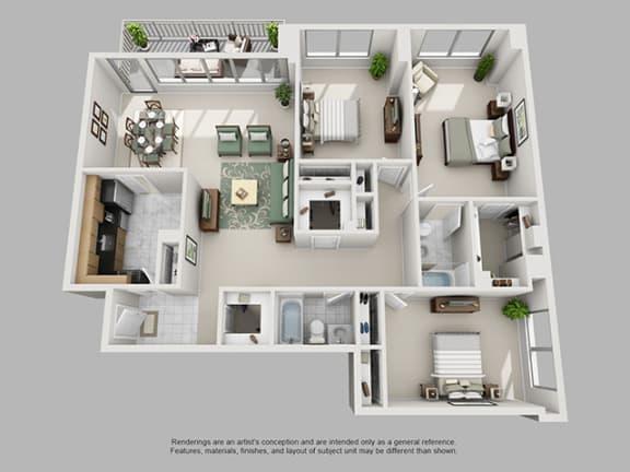 Floor Plan  3 Bed, 2 Bath 1701 SF 32