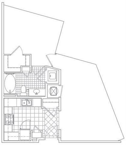Floor Plan  1 Bedroom, 1 Bath 722 SF A7