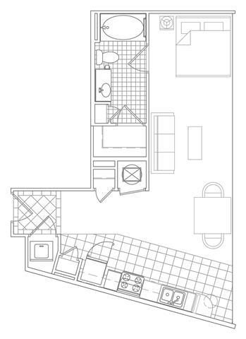 Floor Plan  Studio, 1 Bath 606 SF S5