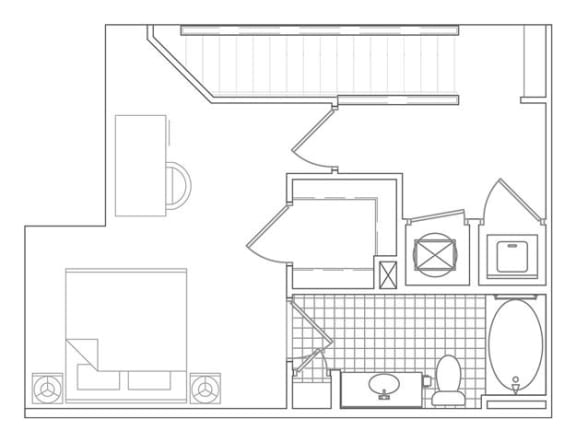 Floor Plan  1 Bedroom, 1 Bath 939 SF TA1
