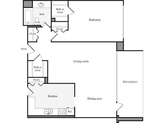 Floor Plan  1 Bedroom, 1 Bath 918 SF 11c