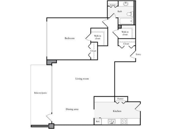 Floor Plan  1 Bedroom, 1 Bath 918 SF 11d
