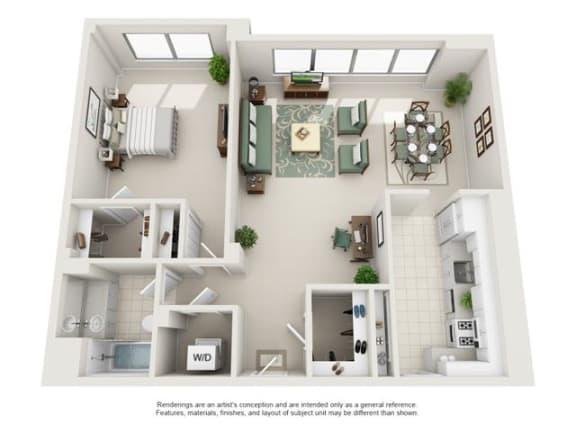 Floor Plan  1 Bedroom, 1 Bath 924 SF 11f