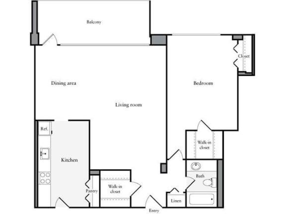 Floor Plan  1 Bedroom, 1 Bath 942 SF 11i