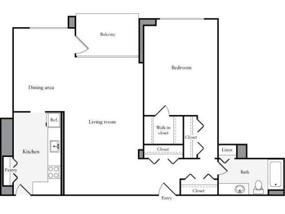 Floor Plan  1 Bedroom, 1 Bath 973 SF 11n