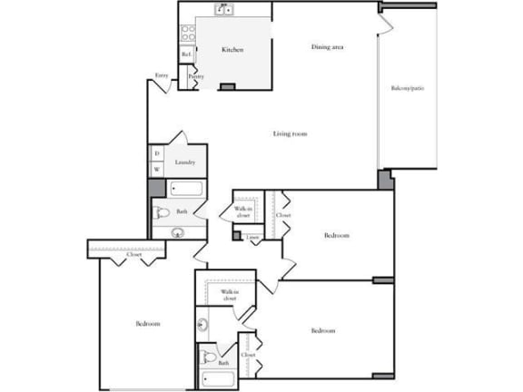 Floor Plan  3 Bedroom, 2 Bath 1620 SF 32