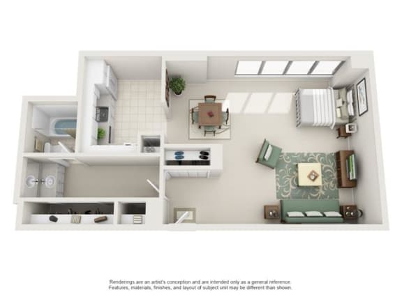 Floor Plan  Studio, 1 Bath 606 SF 01