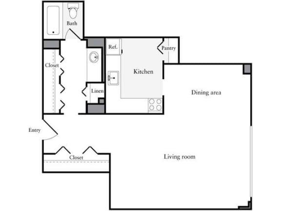 Floor Plan  Studio, 1 Bath 632 SF 01b