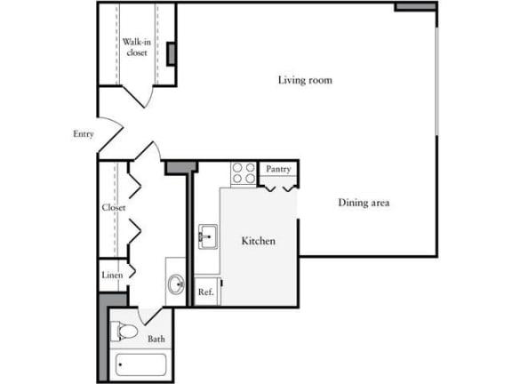 Floor Plan  Studio, 1 Bath 661 SF 01c