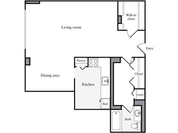 Floor Plan  Studio, 1 Bath 671 SF 01d