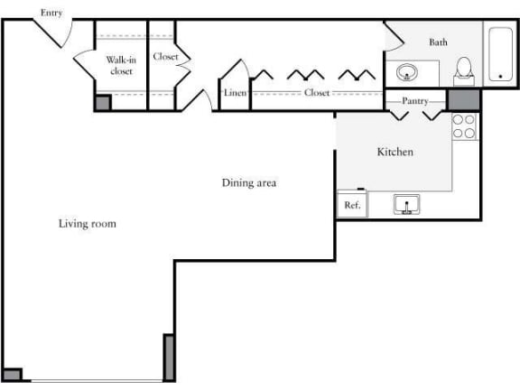 Floor Plan  Studio, 1 Bath 705 SF 01i