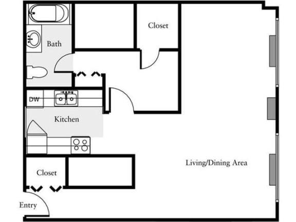 Floor Plan  Studio, 1 Bath 745 SF 01j