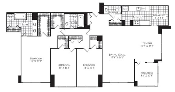 Floor Plan  3 Bed, 2 Bath 2170 SF C4