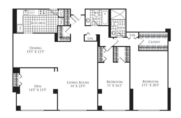 Floor Plan  3 Bed, 2 Bath 1700 SF C6