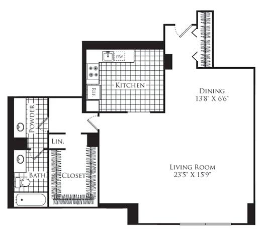 Floor Plan  Studio, 1 Bath 789 SF S2