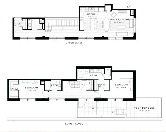 PH3 Floor Plan at Custom House, Minnesota