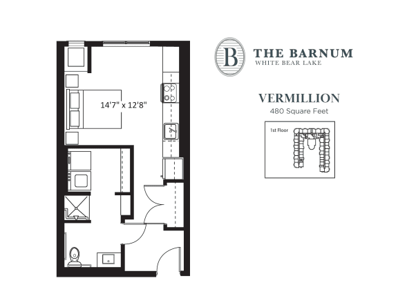 Vermillion Floor Plan at The Barnum, White Bear Lake, Minnesota