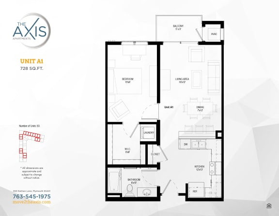 Floorplan at The Axis