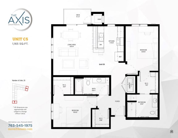 Unit C5 Floorplan at The Axis