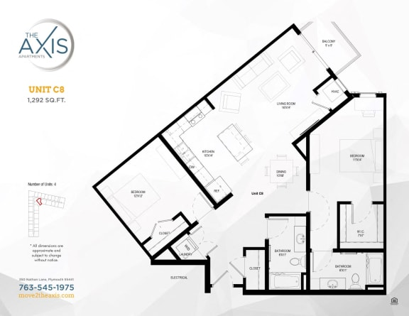 Unit C8 Floorplan at The Axis