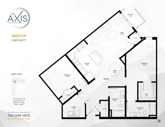 Unit C9 Floorplan at The Axis