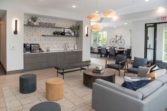 Urban Park II Lobby area with complimentary coffee bar