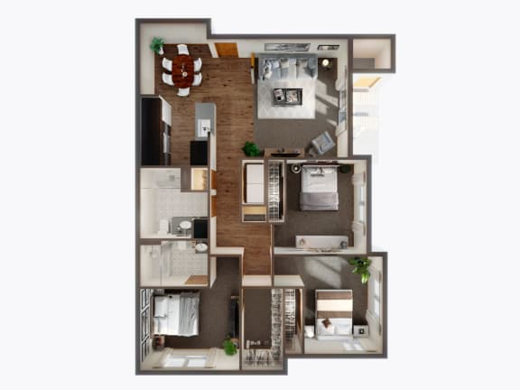 3 Bed, 2 Bath Floor Plan at Panorama, Snoqualmie, 98065