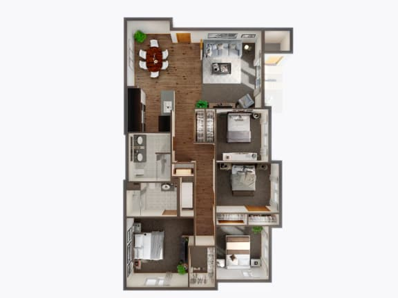 4 Bed 2 Bath Floor Plan at Panorama, Snoqualmie