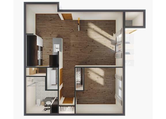 1 Bedroom Floor Plan at Panorama, Snoqualmie, 98065