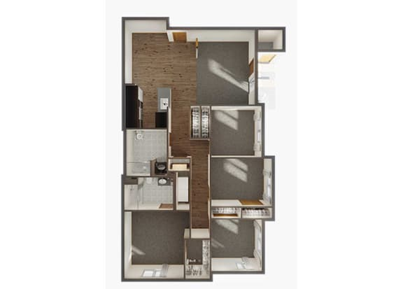4Bedroom 2Bathroom Floorplan at Panorama, Snoqualmie, 98065
