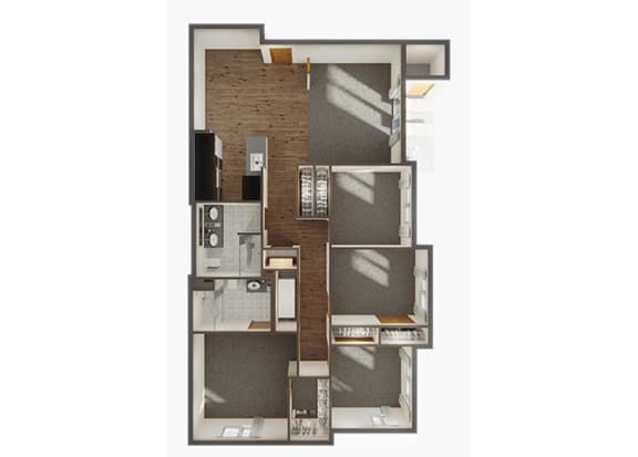Four Bedroom Floor Plan at Panorama, Snoqualmie, WA, 98065
