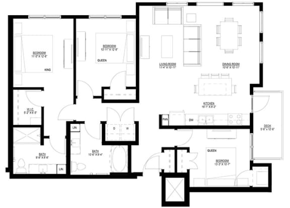 Floor Plan  3 Bedroom Floor Plan