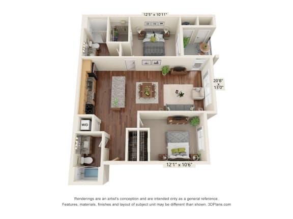 Floor Plan  South Range Crossings_2 Bedroom_B2