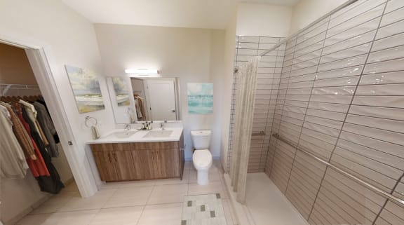 Modern sleek bathroom