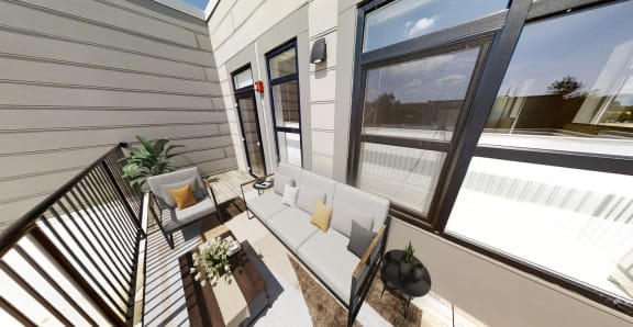 Sunny private outdoor patio