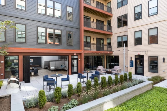 Elevated Courtyard with Grilling Stations in Providence, Ri