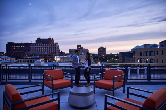Roof Deck With Panoramic City Views at Nightingale, Providence
