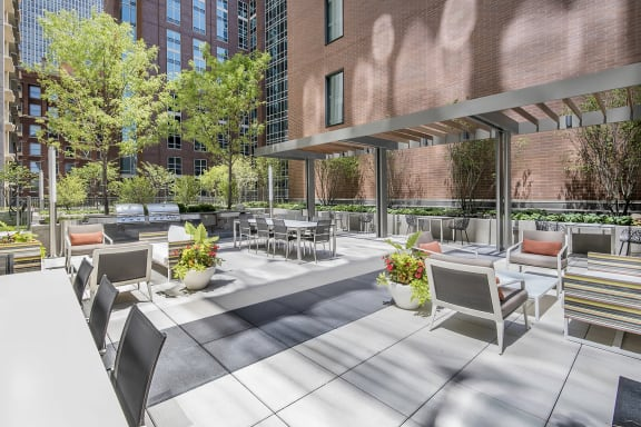 Rooftop BBQ at State & Chestnut Apartments, Chicago, Illinois