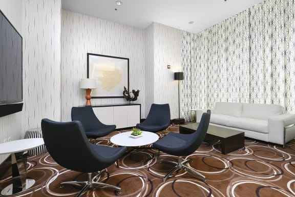 Renovated Meeting Room at State & Chestnut Apartments, Chicago, Illinois