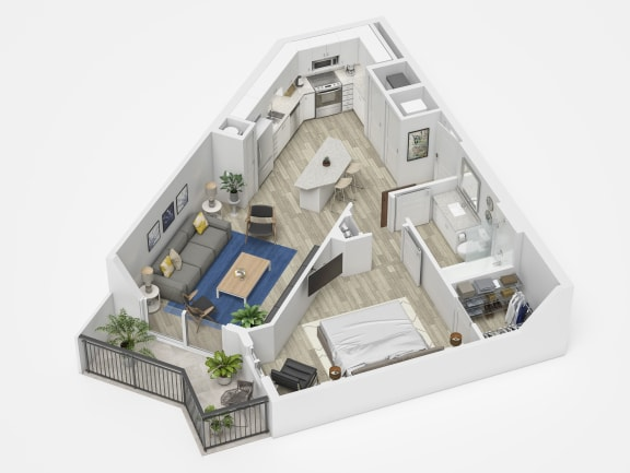 Uptown Boca A2 Floor Plan