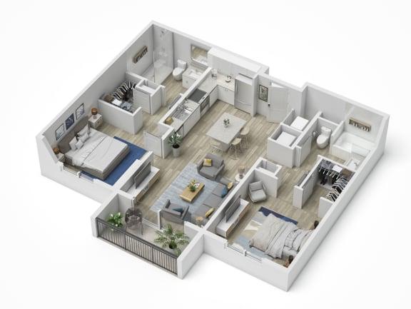 Uptown Boca B1 Floor Plan