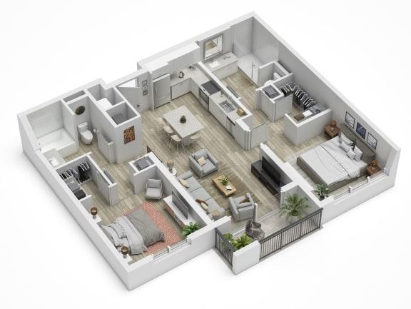 Uptown Boca B2.2 Floor Plan