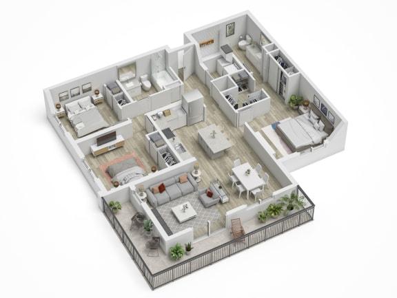 Uptown Boca C1 Floor Plan