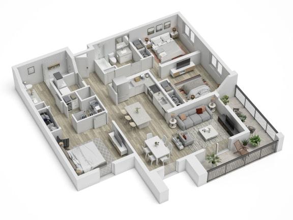 Uptown Boca C1.1 Floor Plan